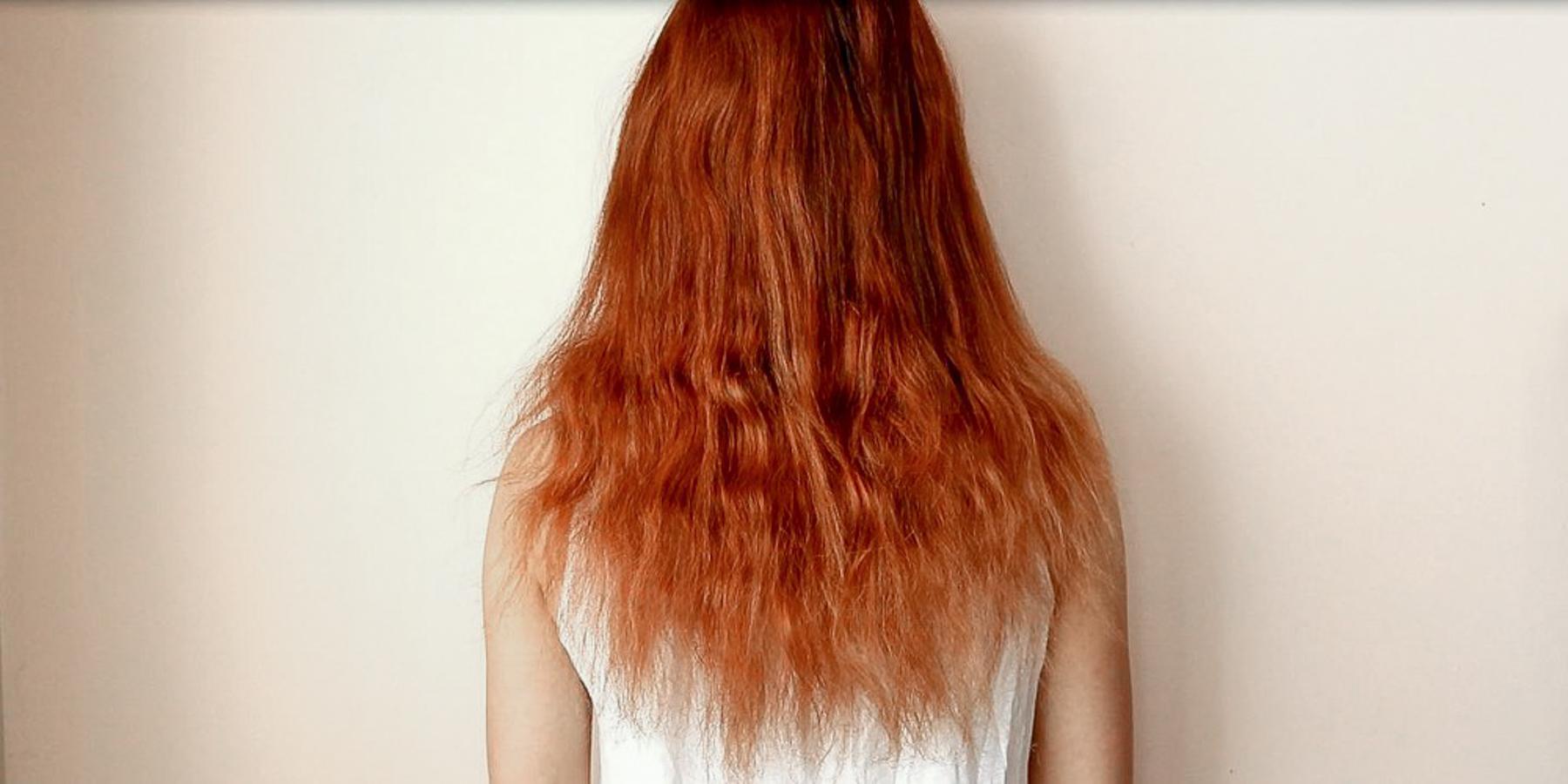 before Olaplex treatment showing hair damage