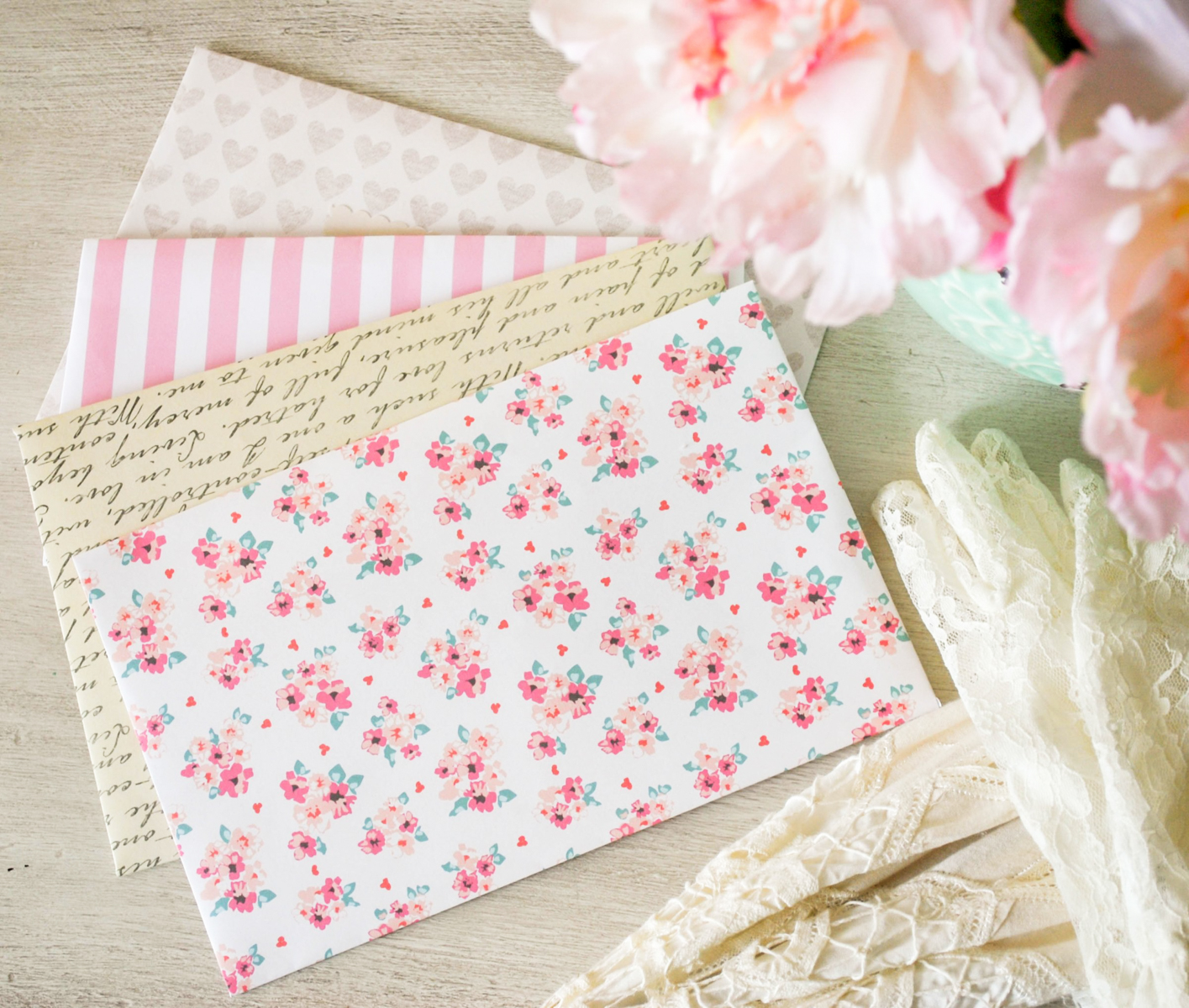 How to make an Envelope – DIY heart Envelope