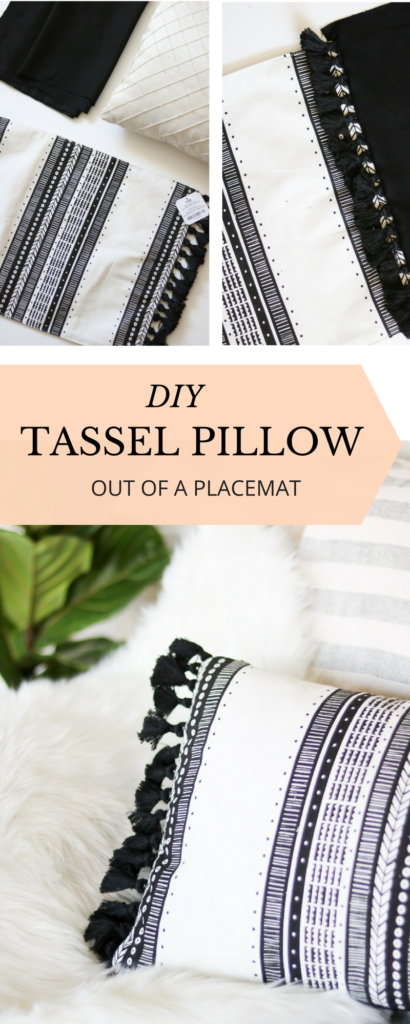 How cute IS THIS THROW PILLOW DIY OUT OF A PLACEMAT :D