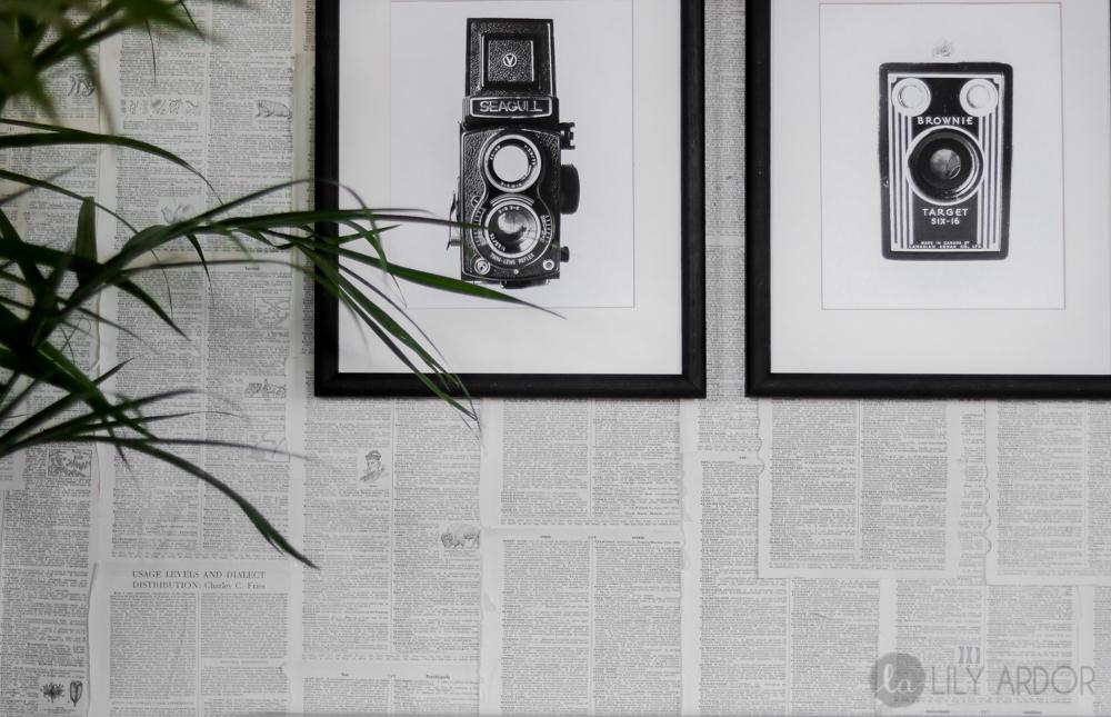 DIY Bookpage Wallpaper