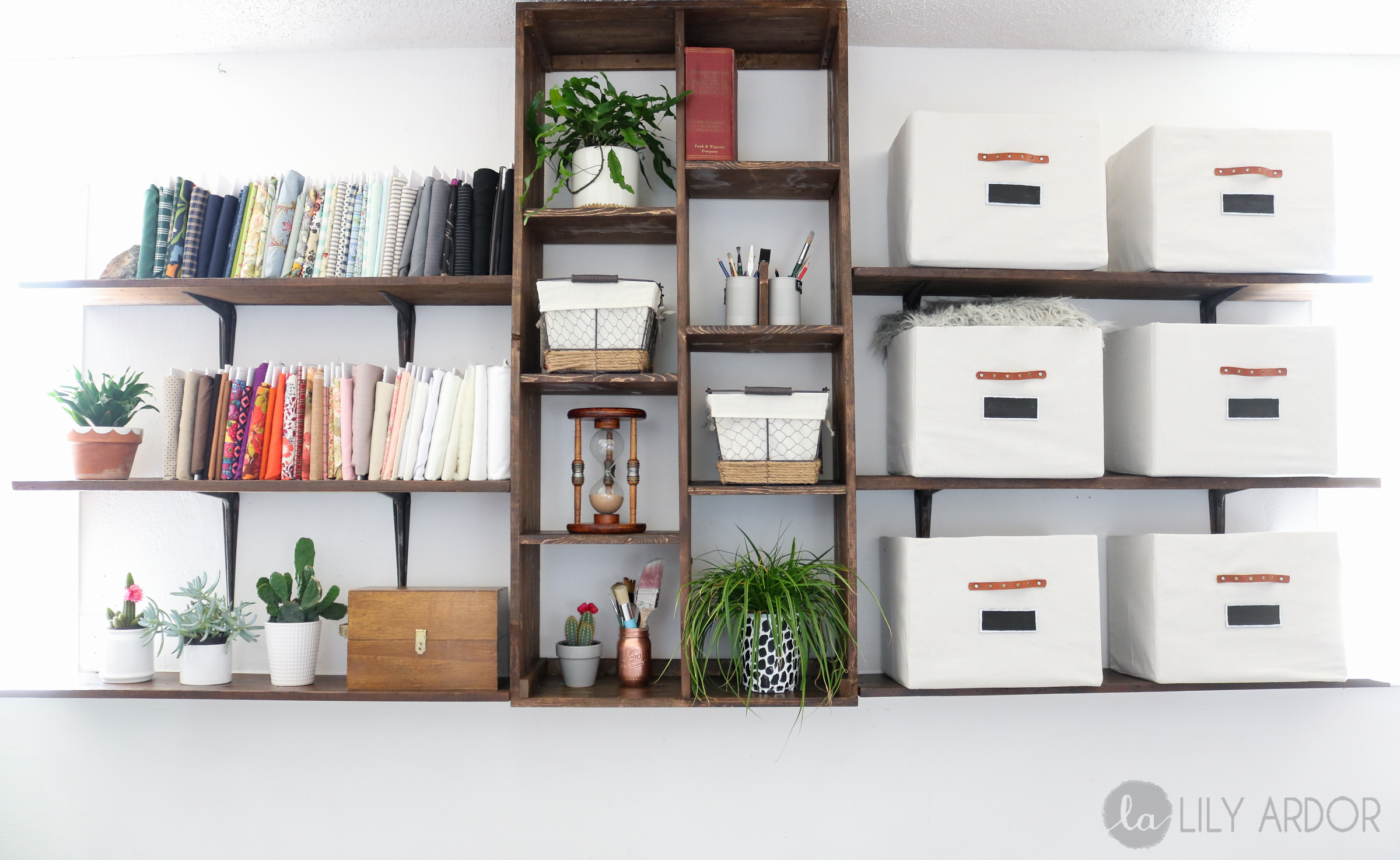 how to make built in shelf