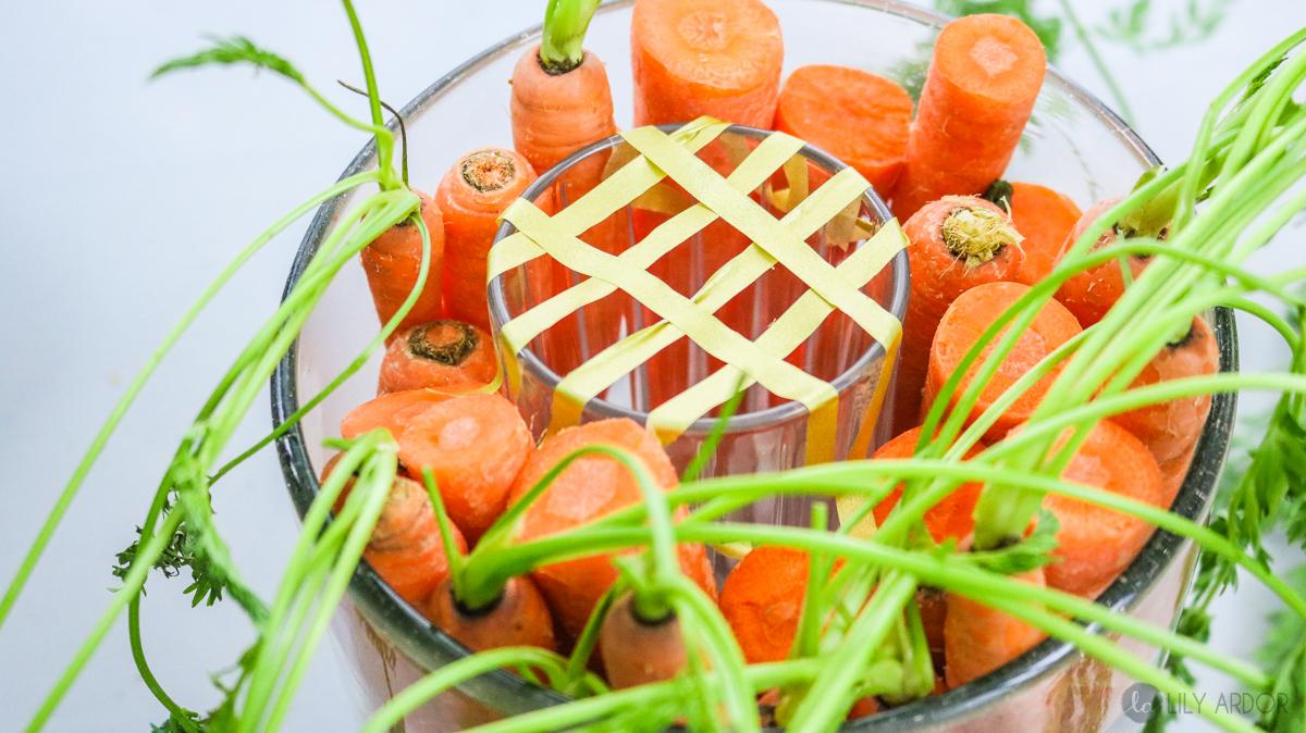 carrot centerpiece diy