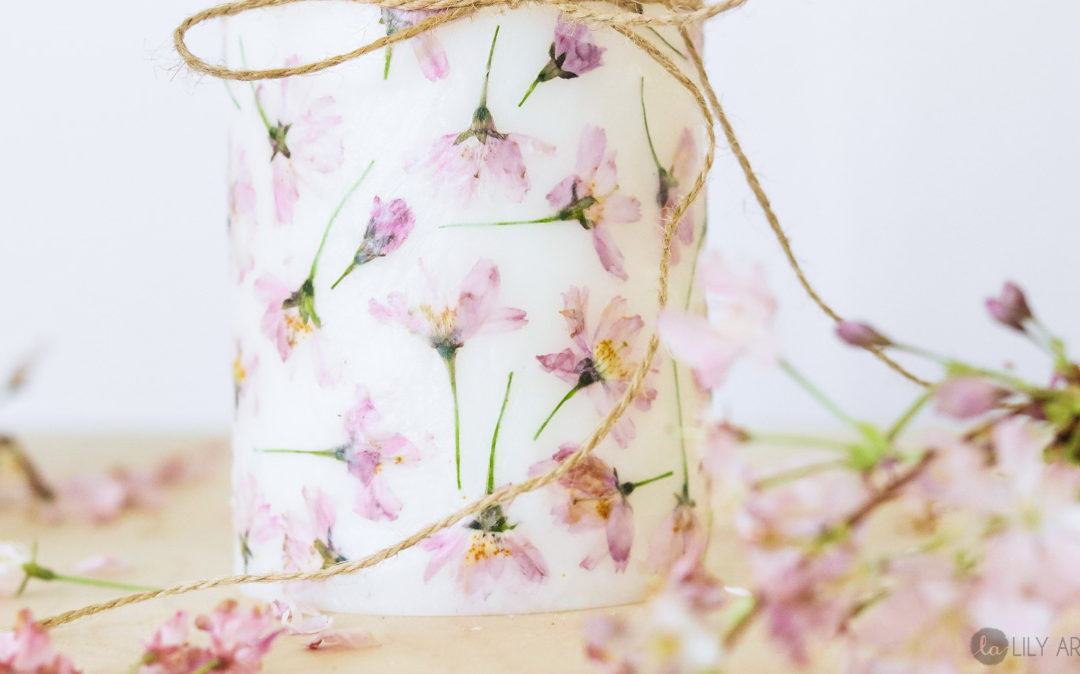 Flower Candle | DIY Mother's day gifts