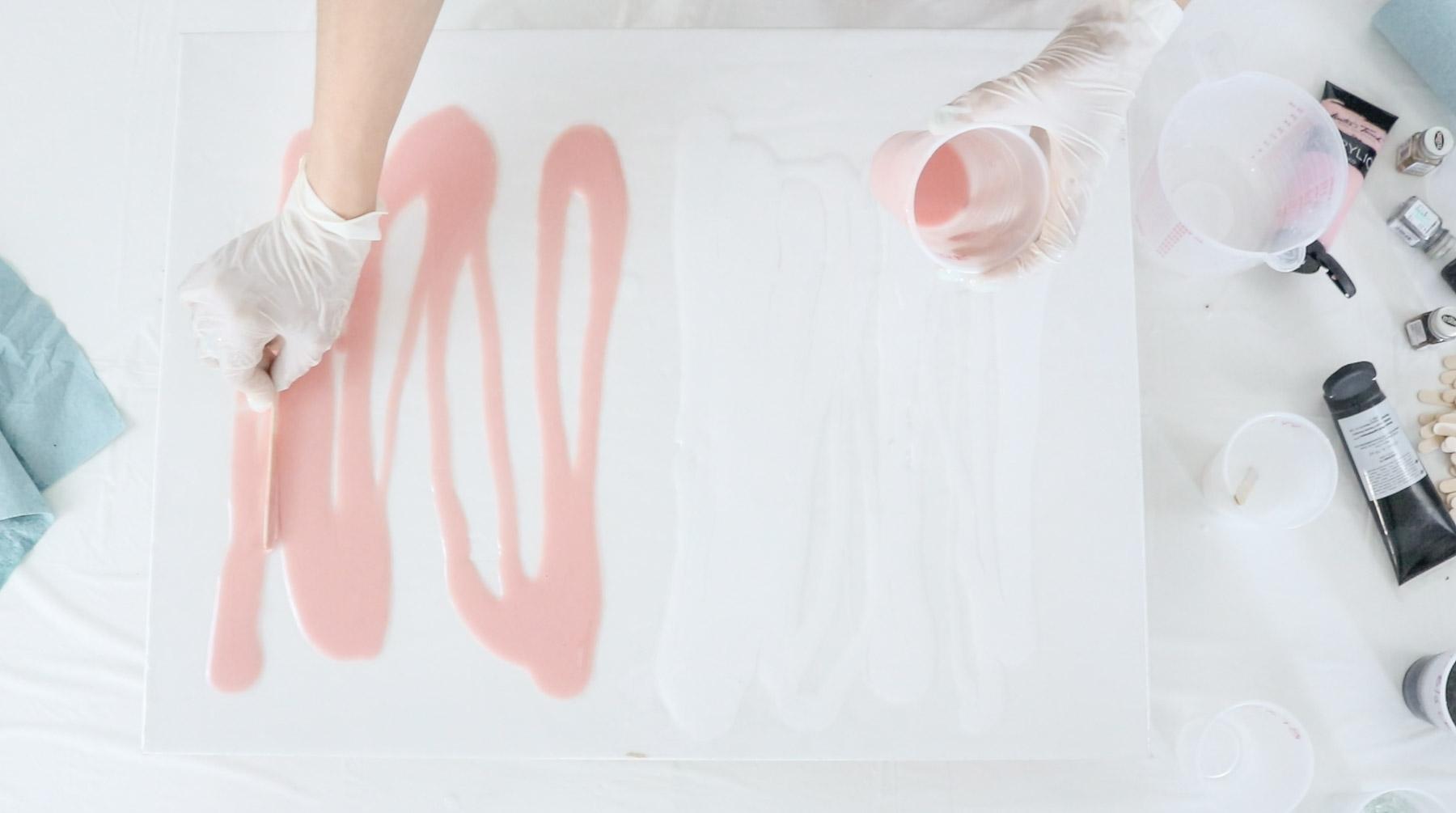 pink resin art