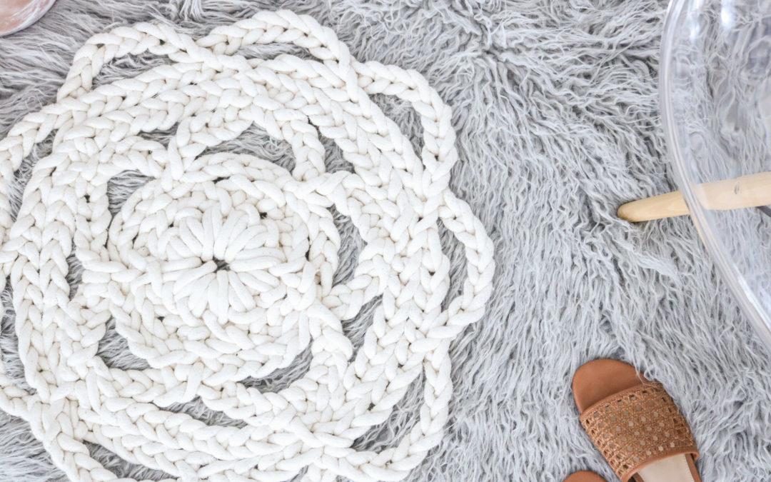 Diy Macrame Rope Rug Giant Doily No Crochet Needed Via Lilyardor
