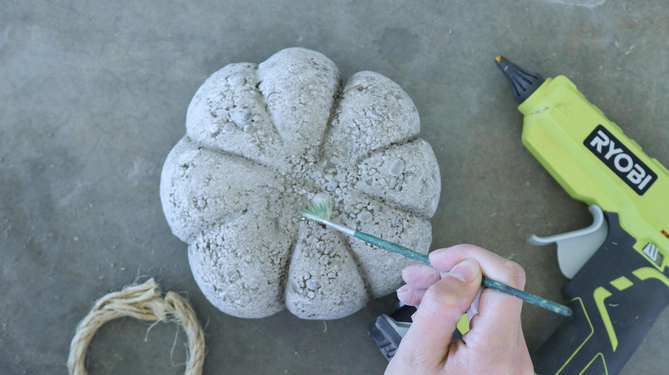 Diy Concrete Pumpkin Idea For Fall Lily Ardor