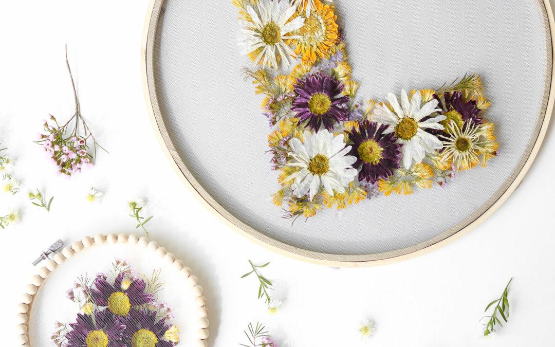 Pressed Floral Hoops