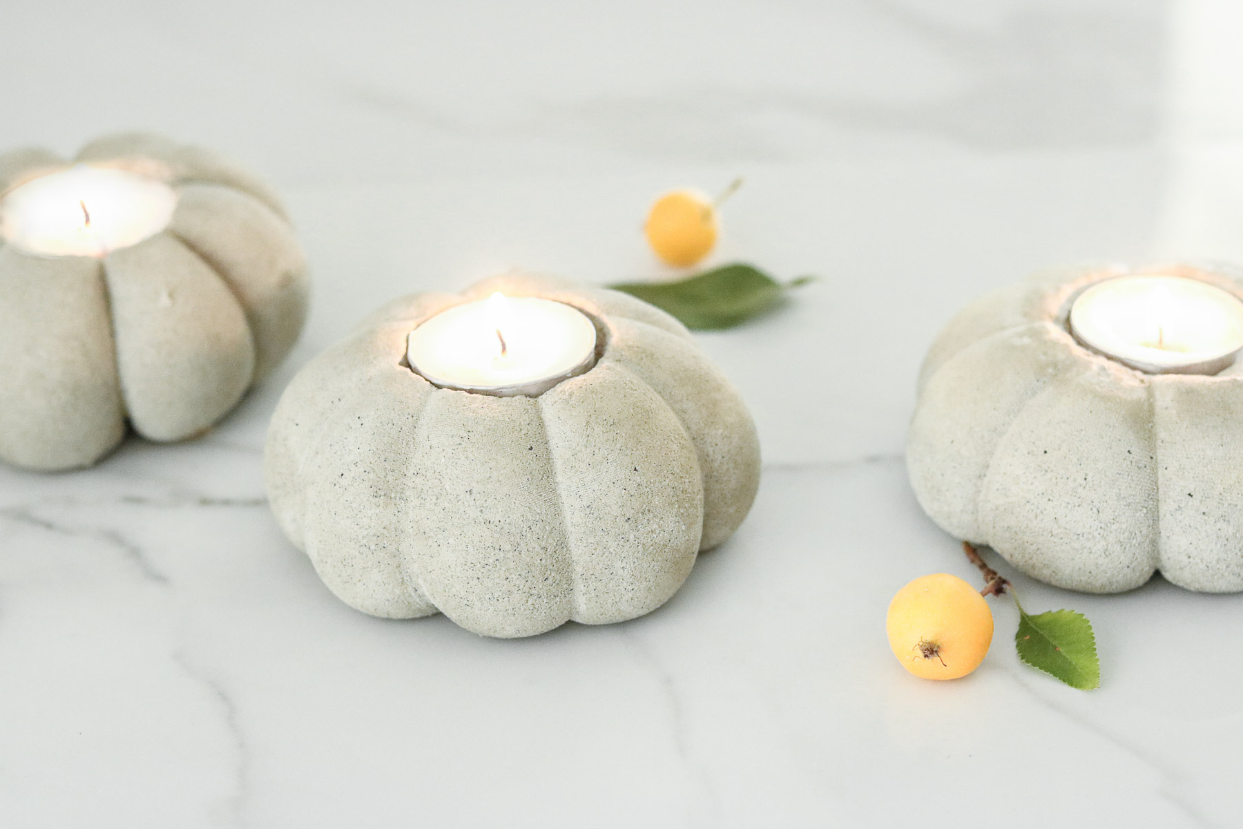 concrete pumpkins