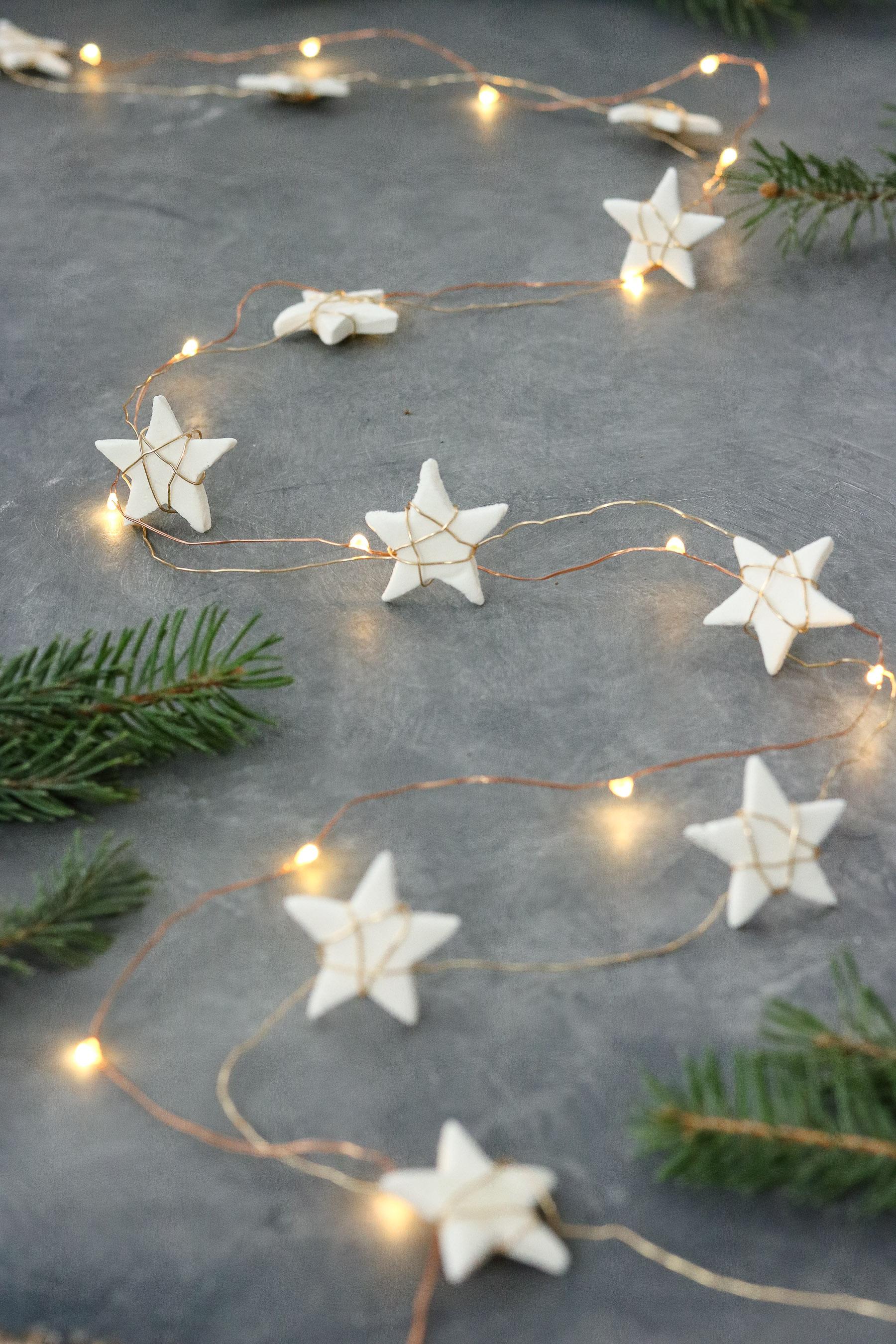 christmas start garland