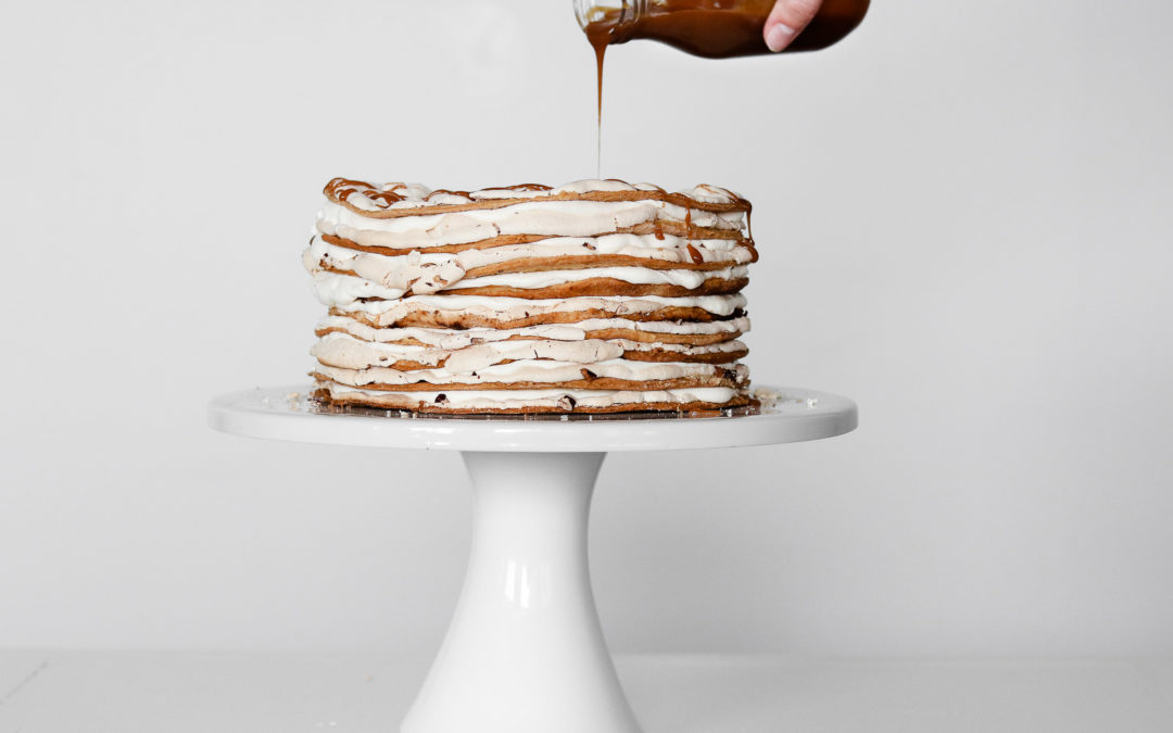 Walnut Meringue Cake