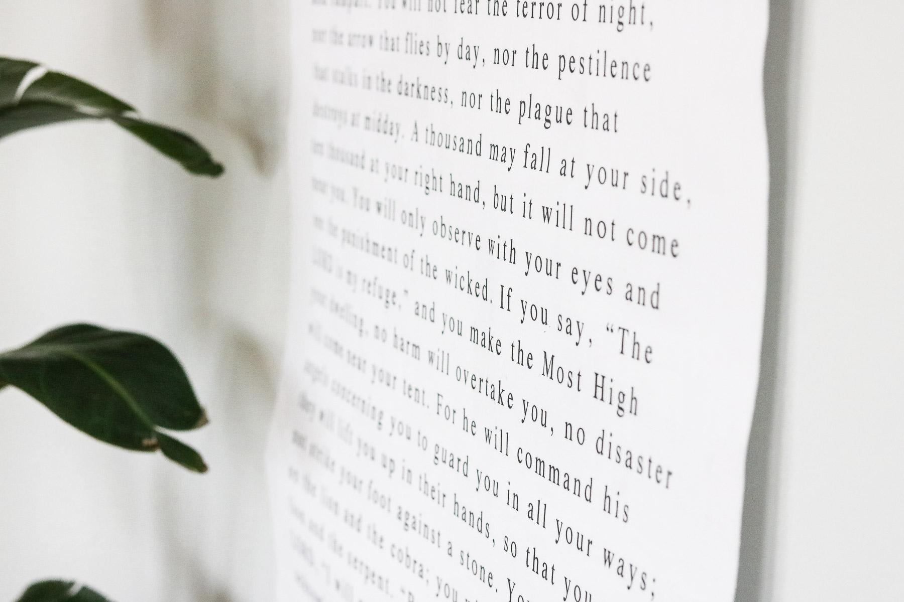 DIY bible verse gift idea