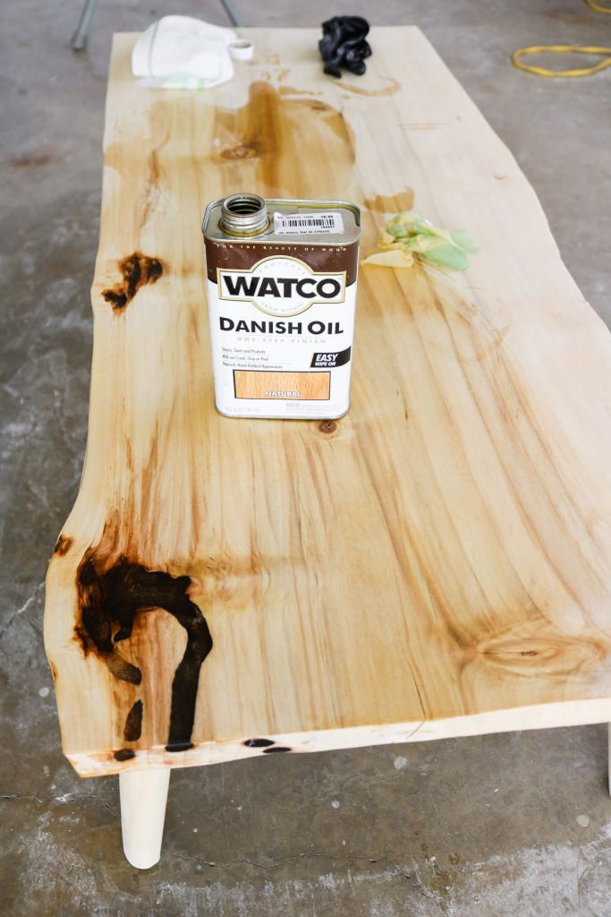 oil finish for our DIY coffee table