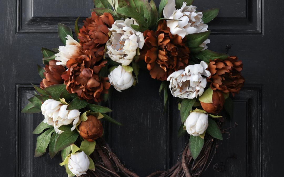 DIY Fall Wreath With Peonies