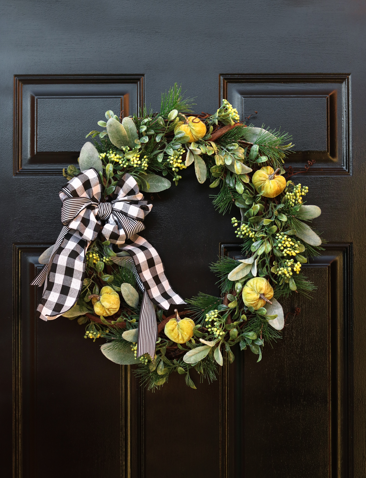 DIY plaid wreath