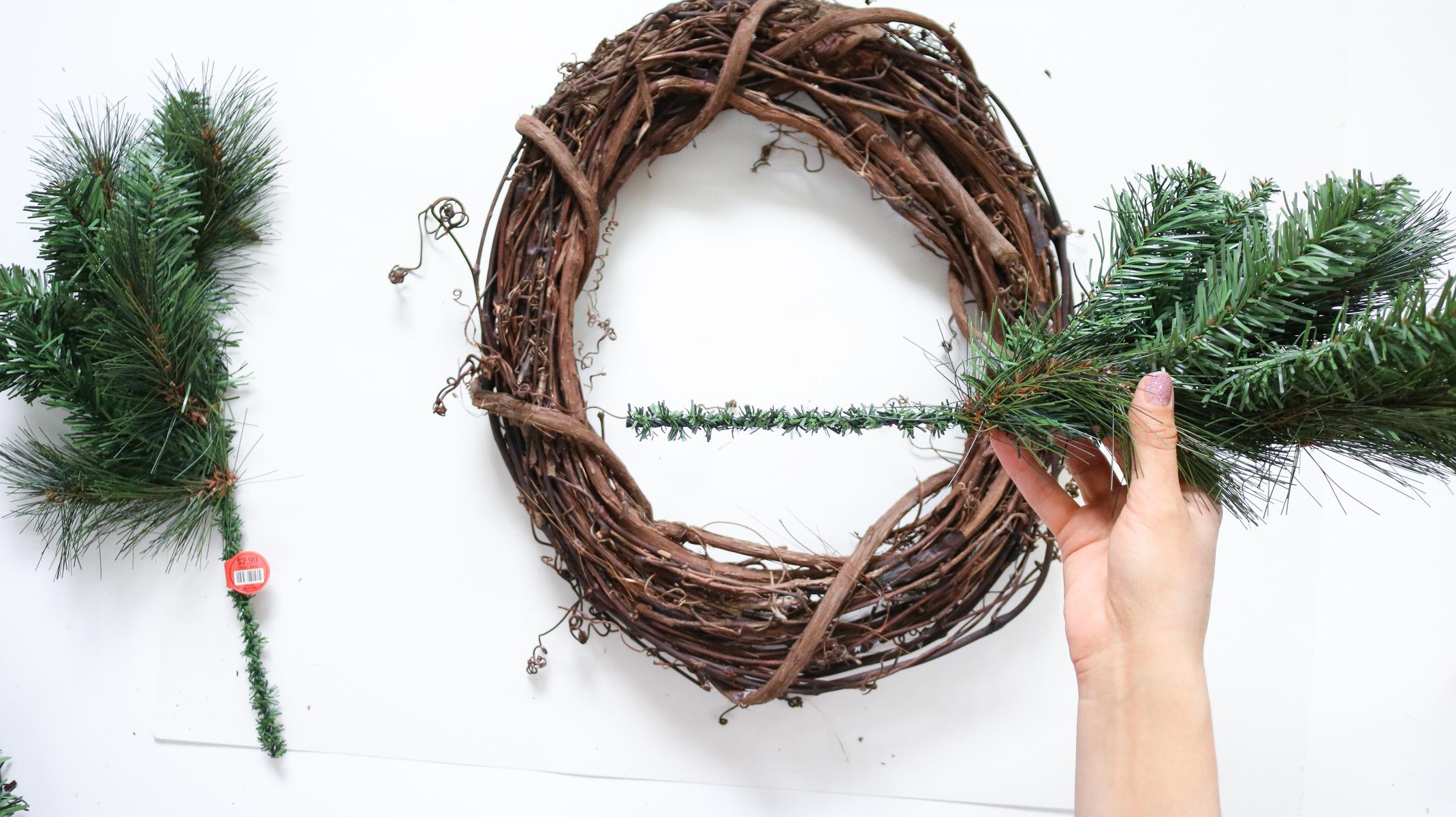 how to DIY citrus wreath