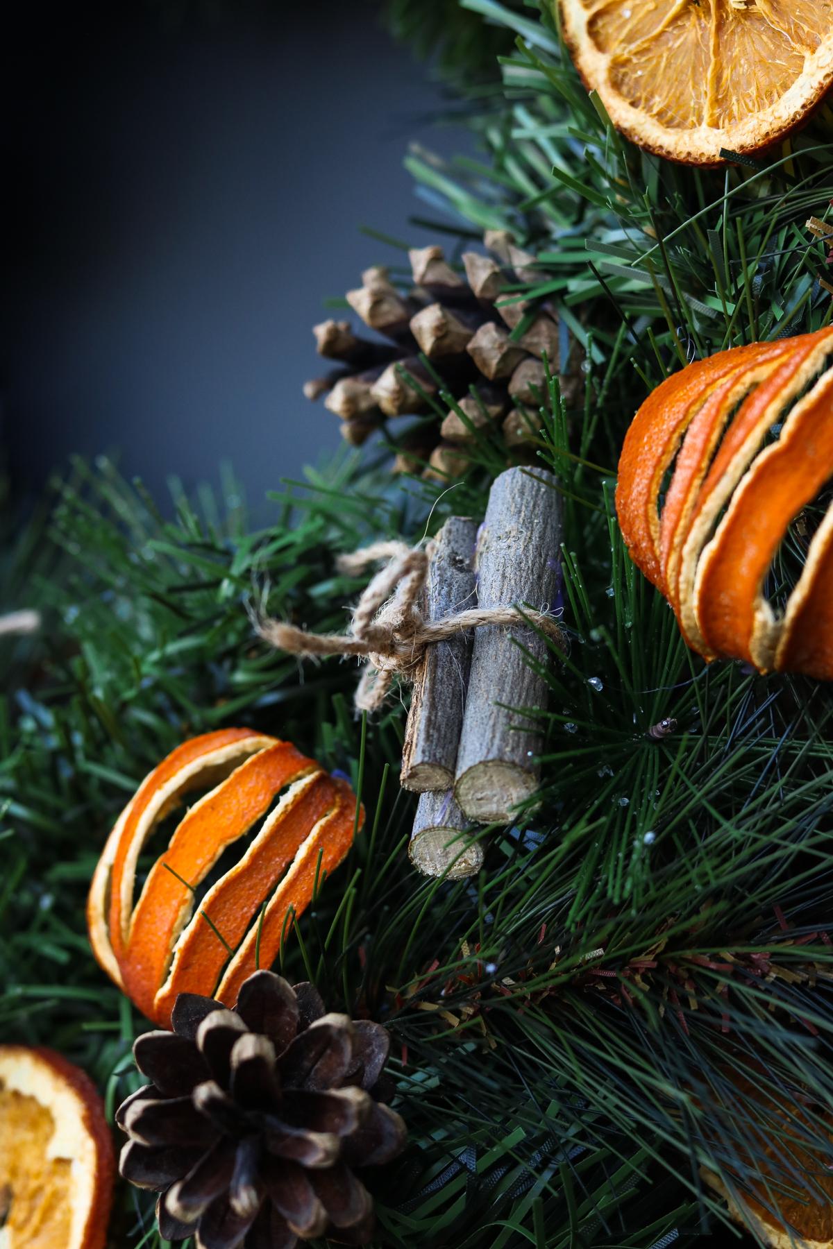 DIY citrus wreath