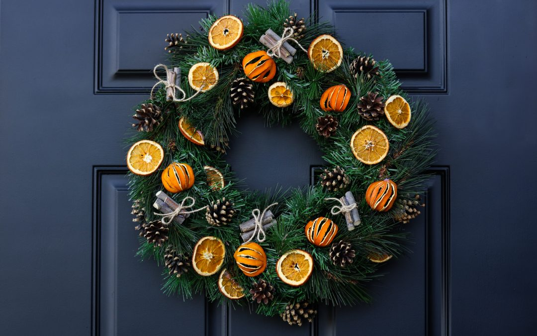 Fall / Christmas Citrus Wreath