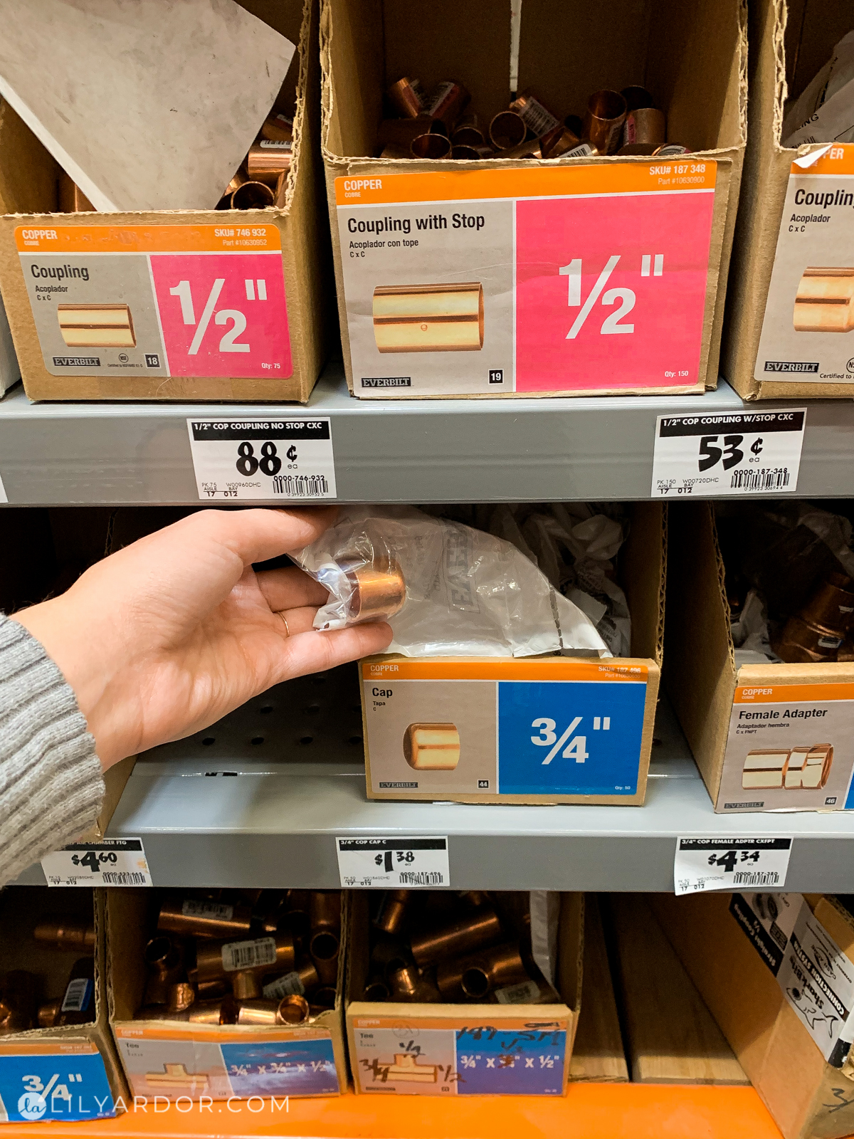 copper tube cap at home depot