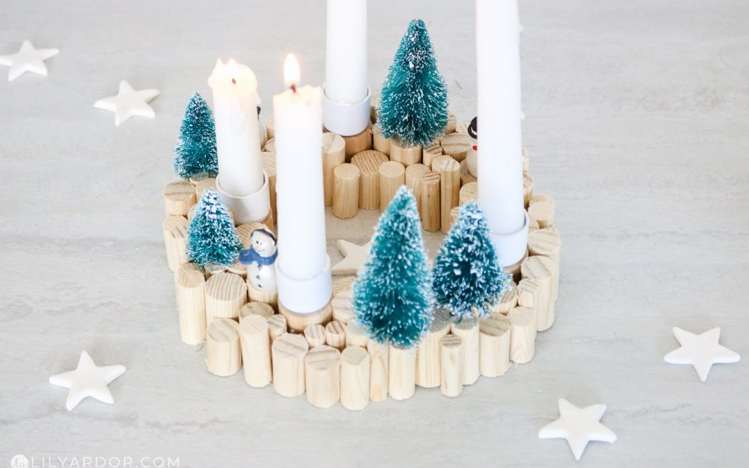Christmas Wood Candle Holder