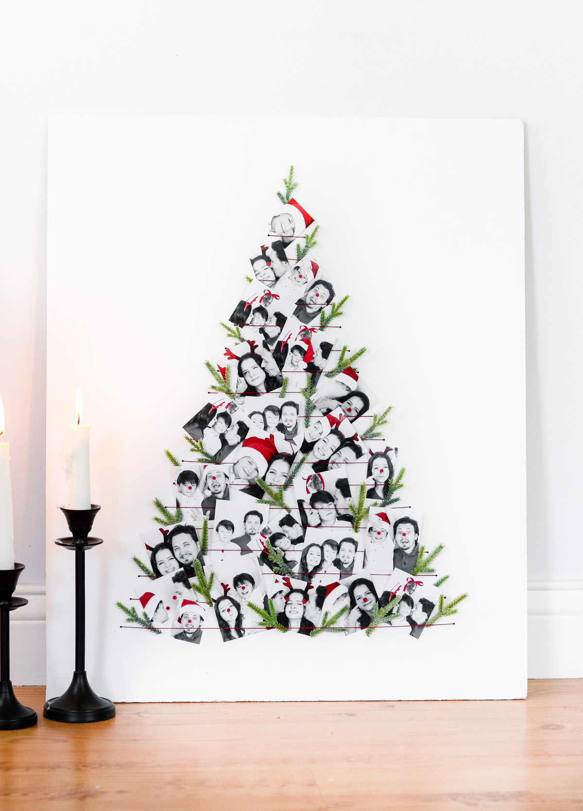 how cute is the photo christmas tree alternative