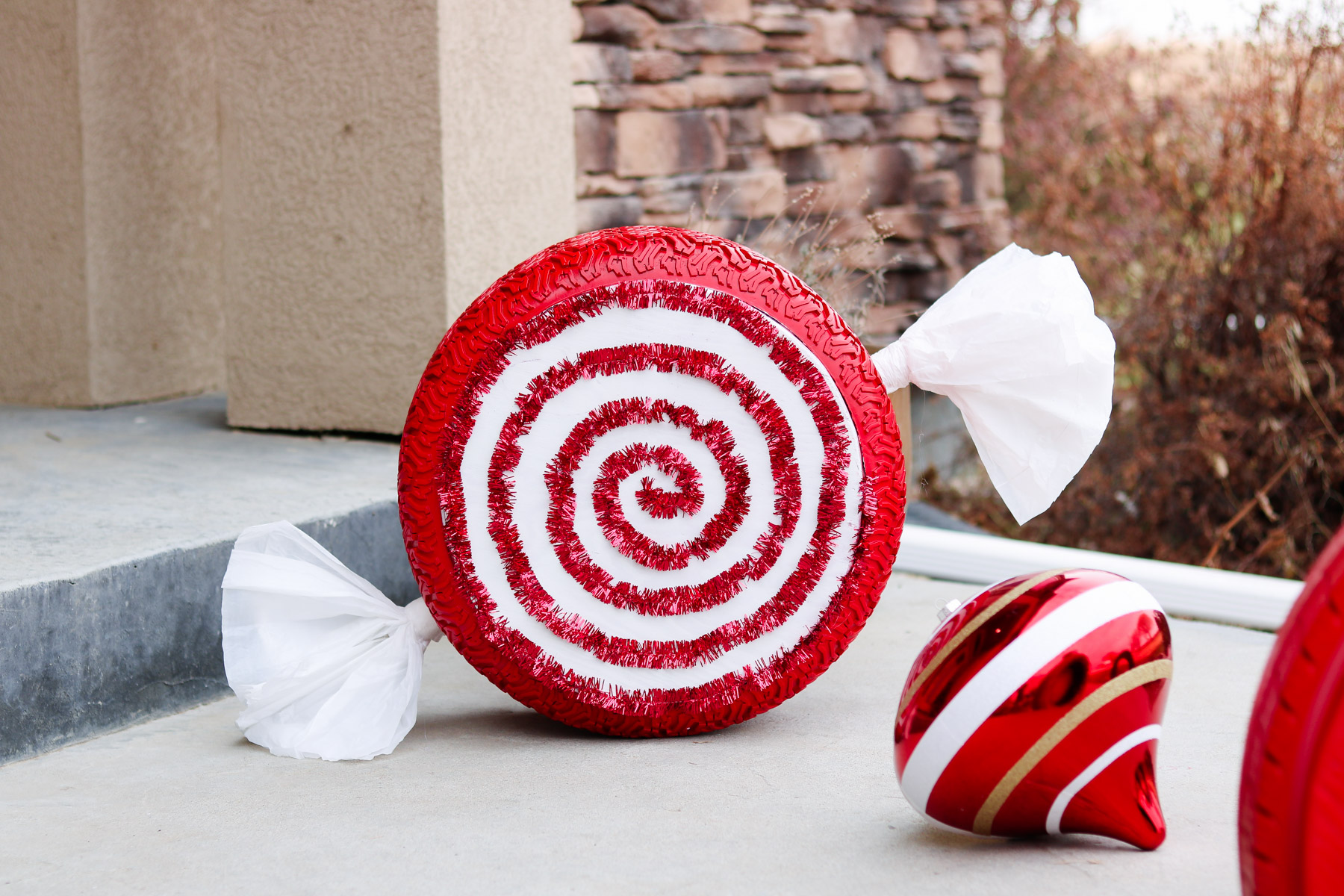 christmas tire candy