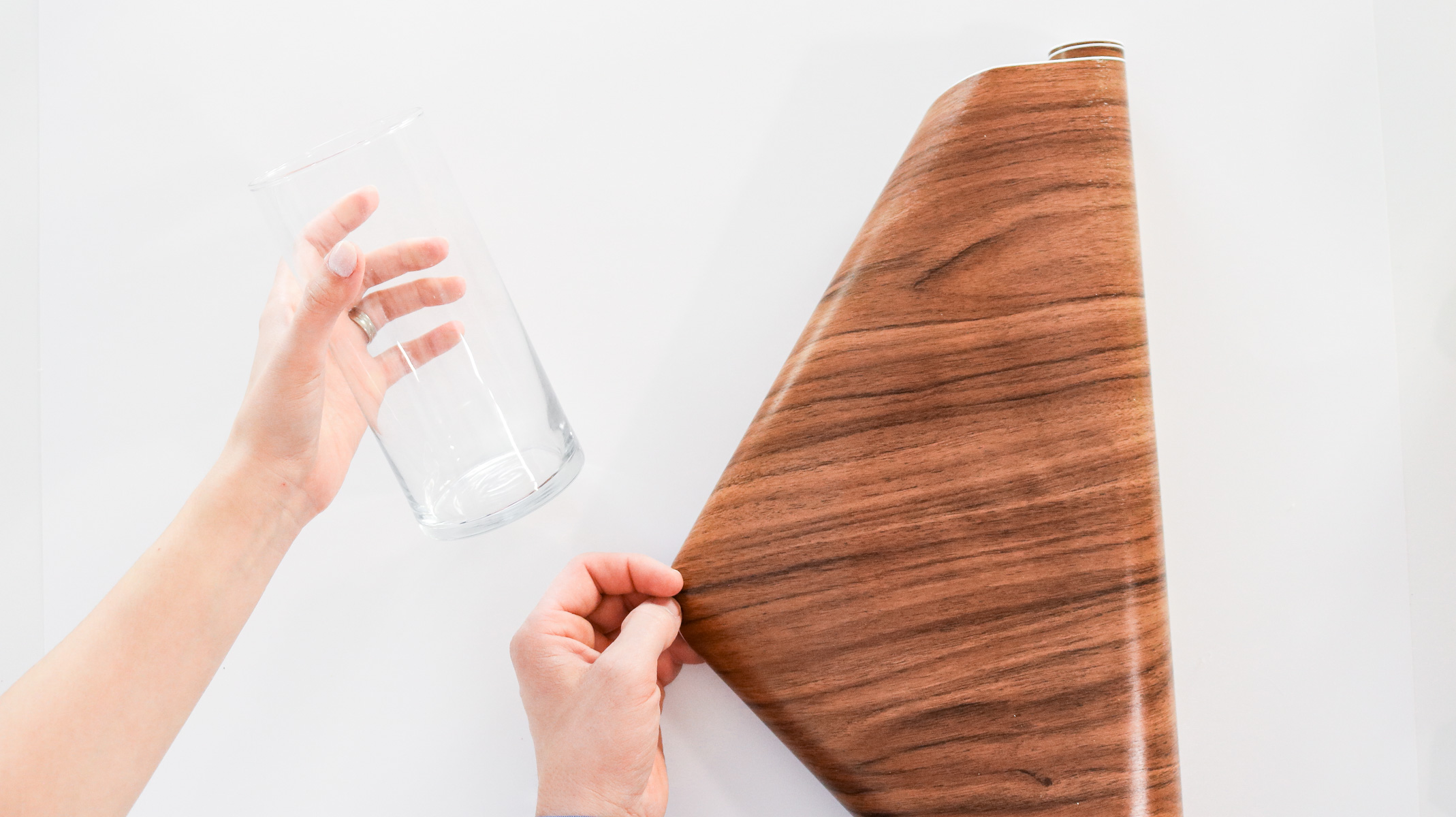 applying wood contact apper to glass