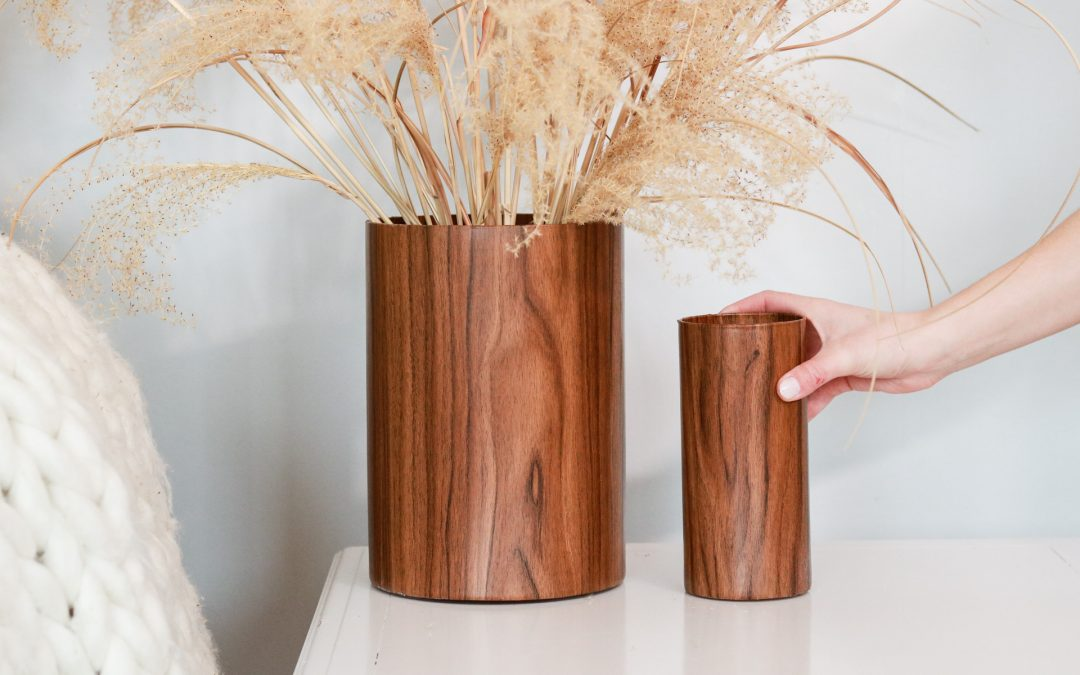 Wood Vase DIY from old glass vases!