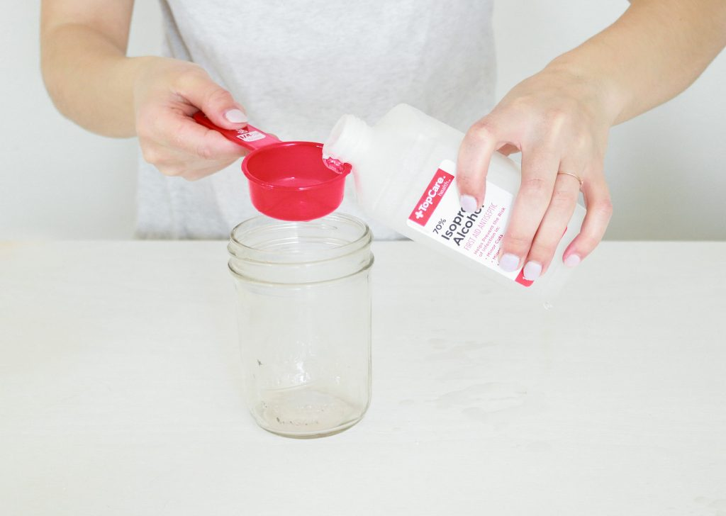 Adding Rubbing Alcohol TO DIY Hand Sanitizer