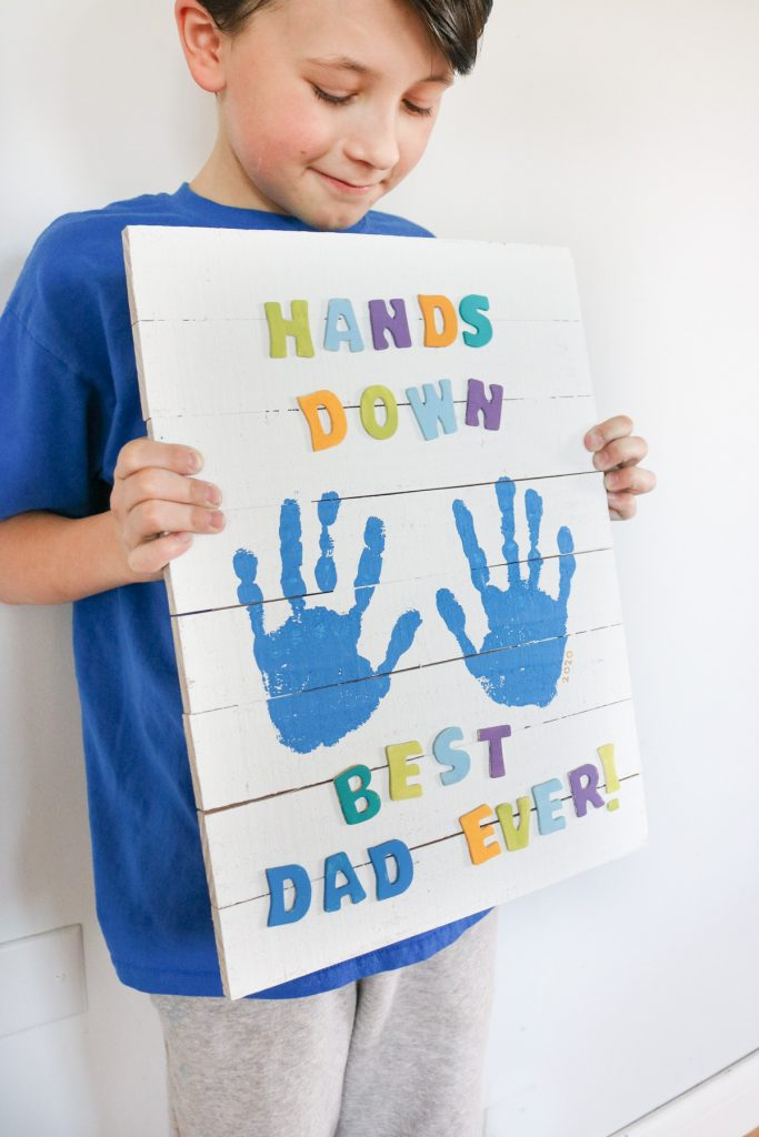 Handprint Father's day gift diy