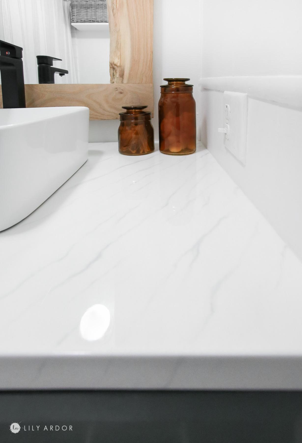 DIY Resin Marble countertop