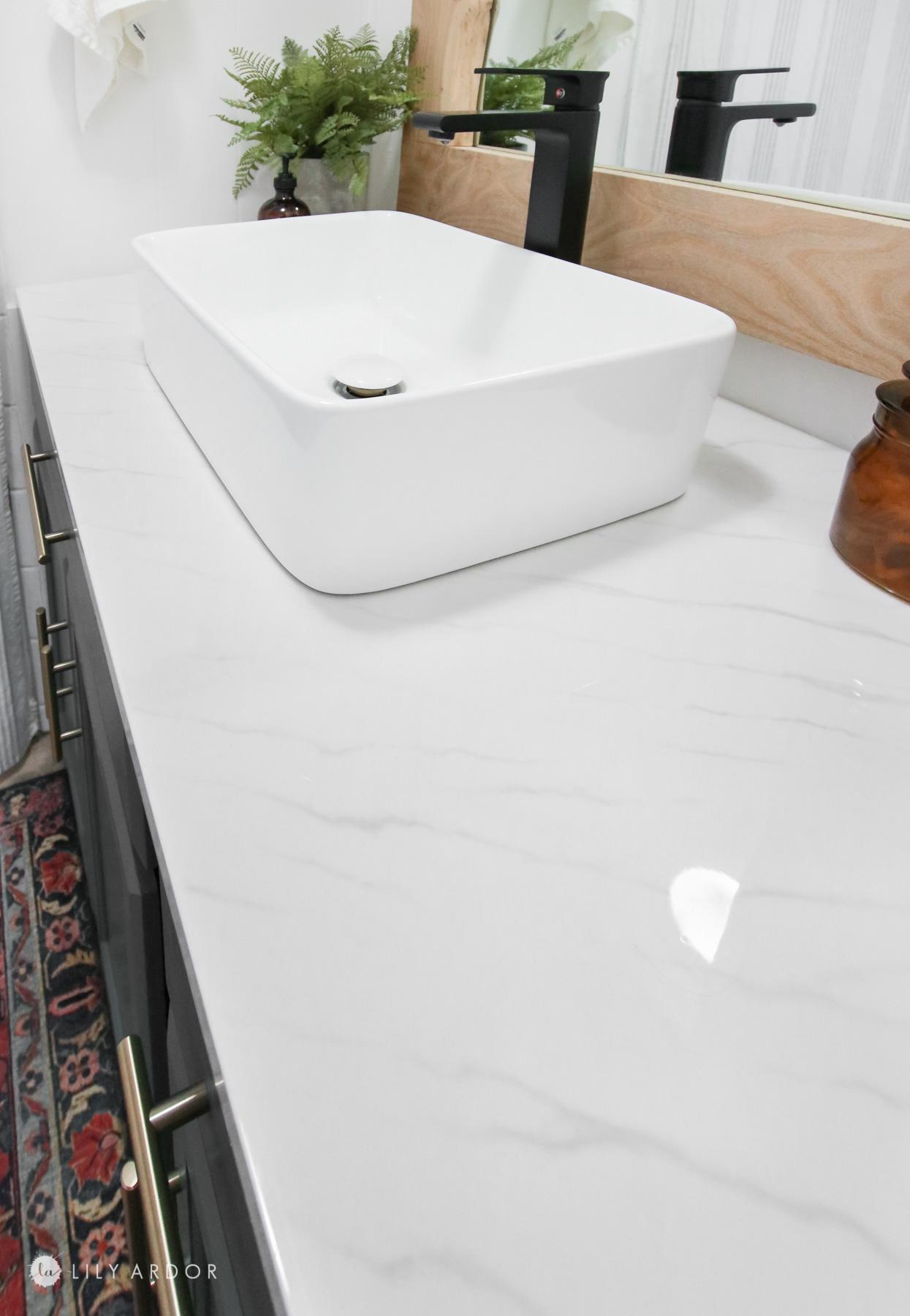 DIY resin countertop
