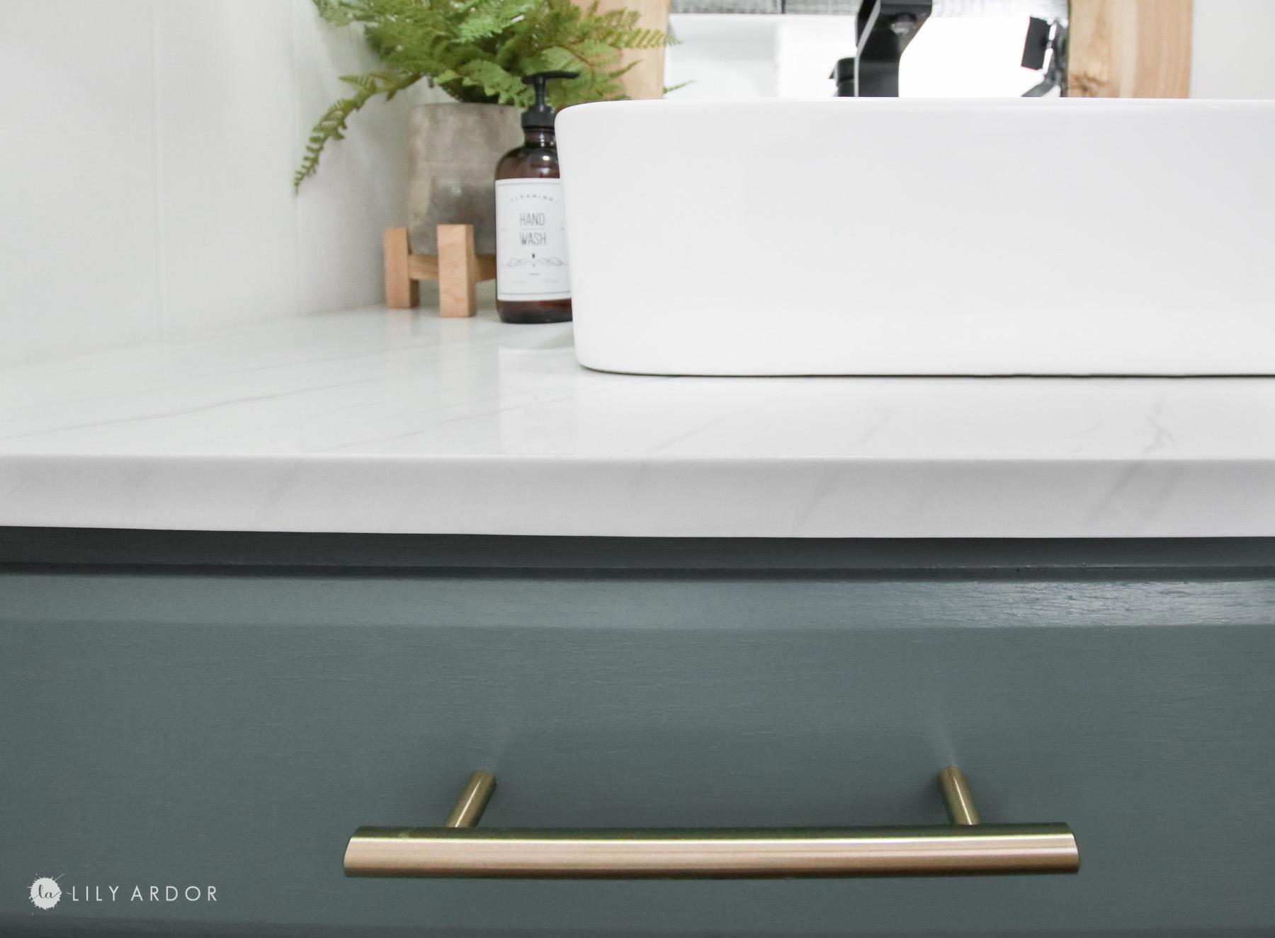 DIY Marble resin countertop
