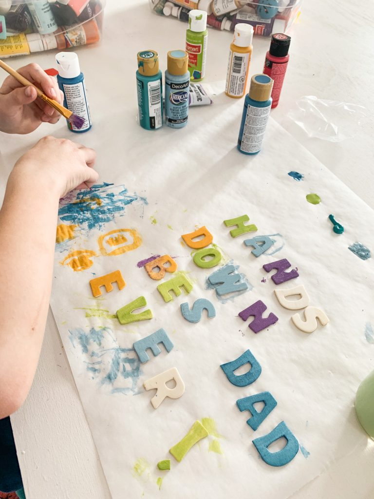 Painting Letter's for father's day gift