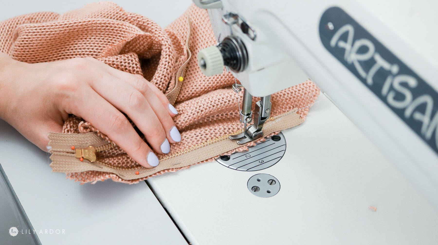 sewing in a zipper