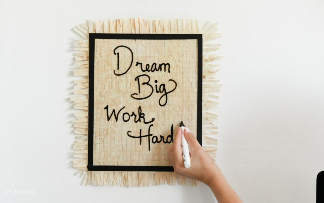 Bohemian Erase Board | Dollar Tree