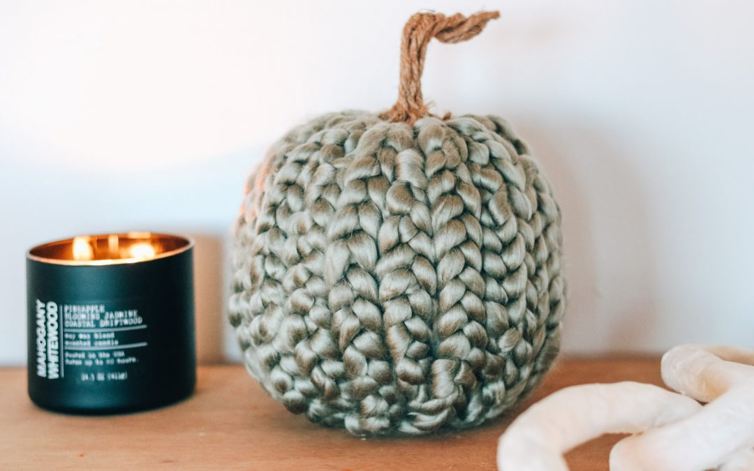 DIY Chunky Knit Pumpkin