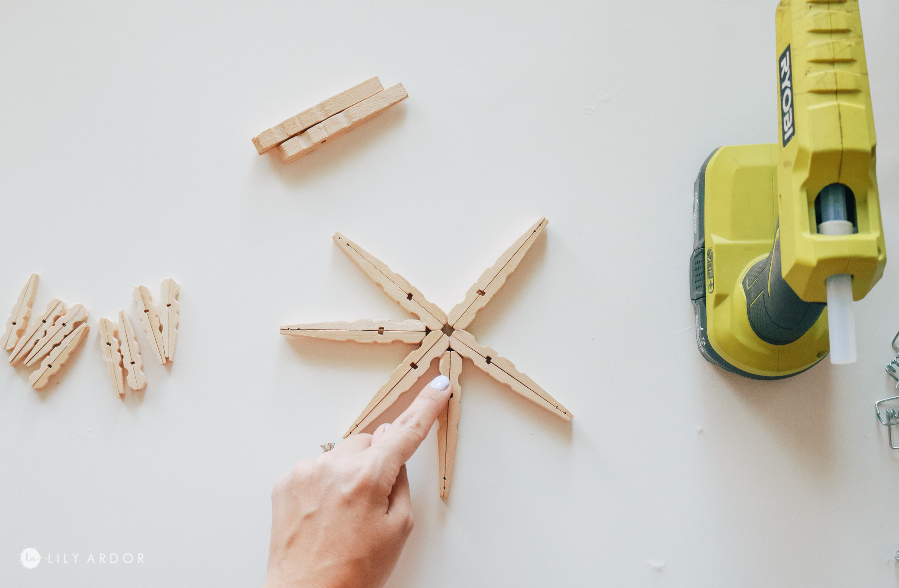 DIY clothespin wooden stars