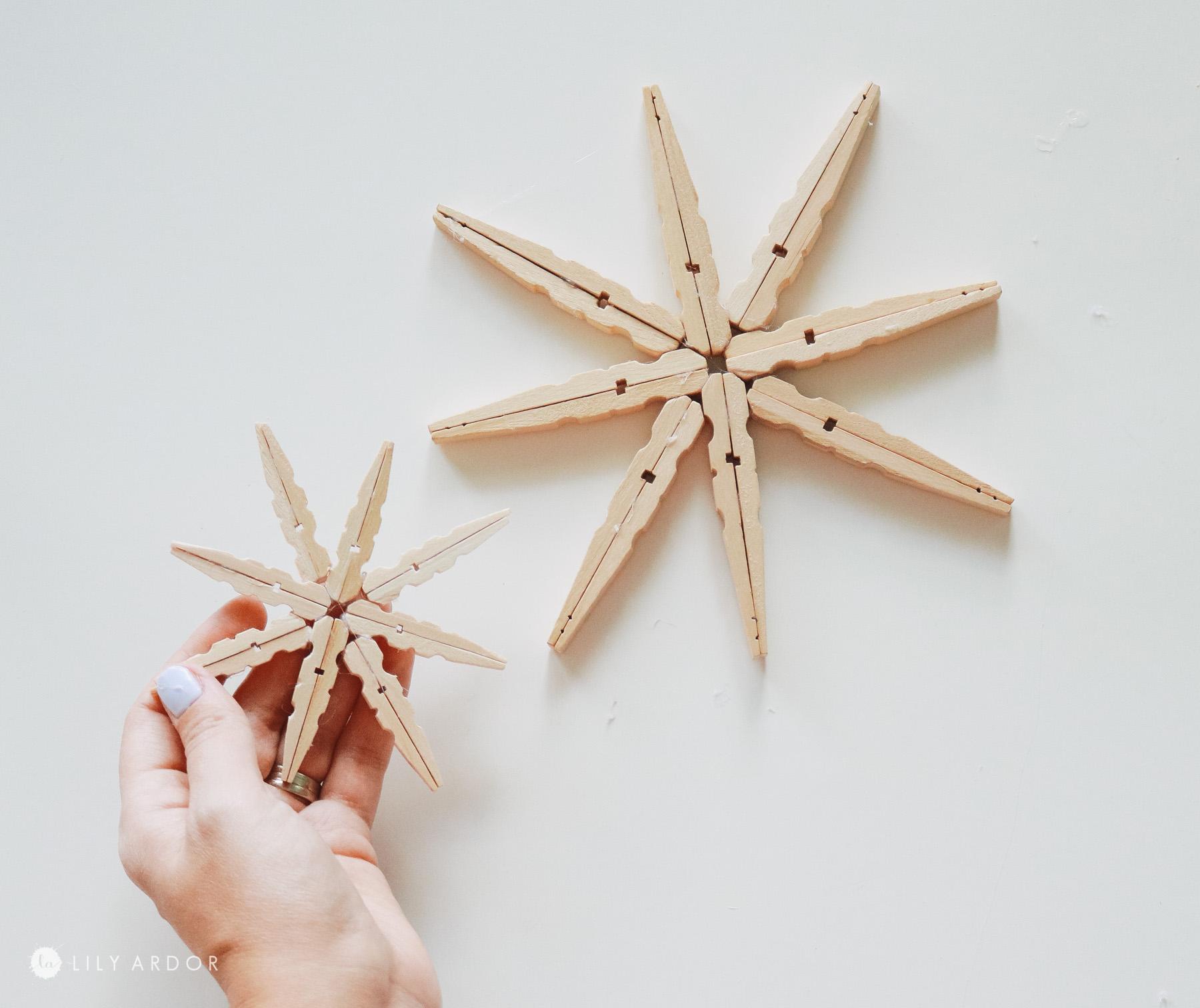 finishing wooden stars