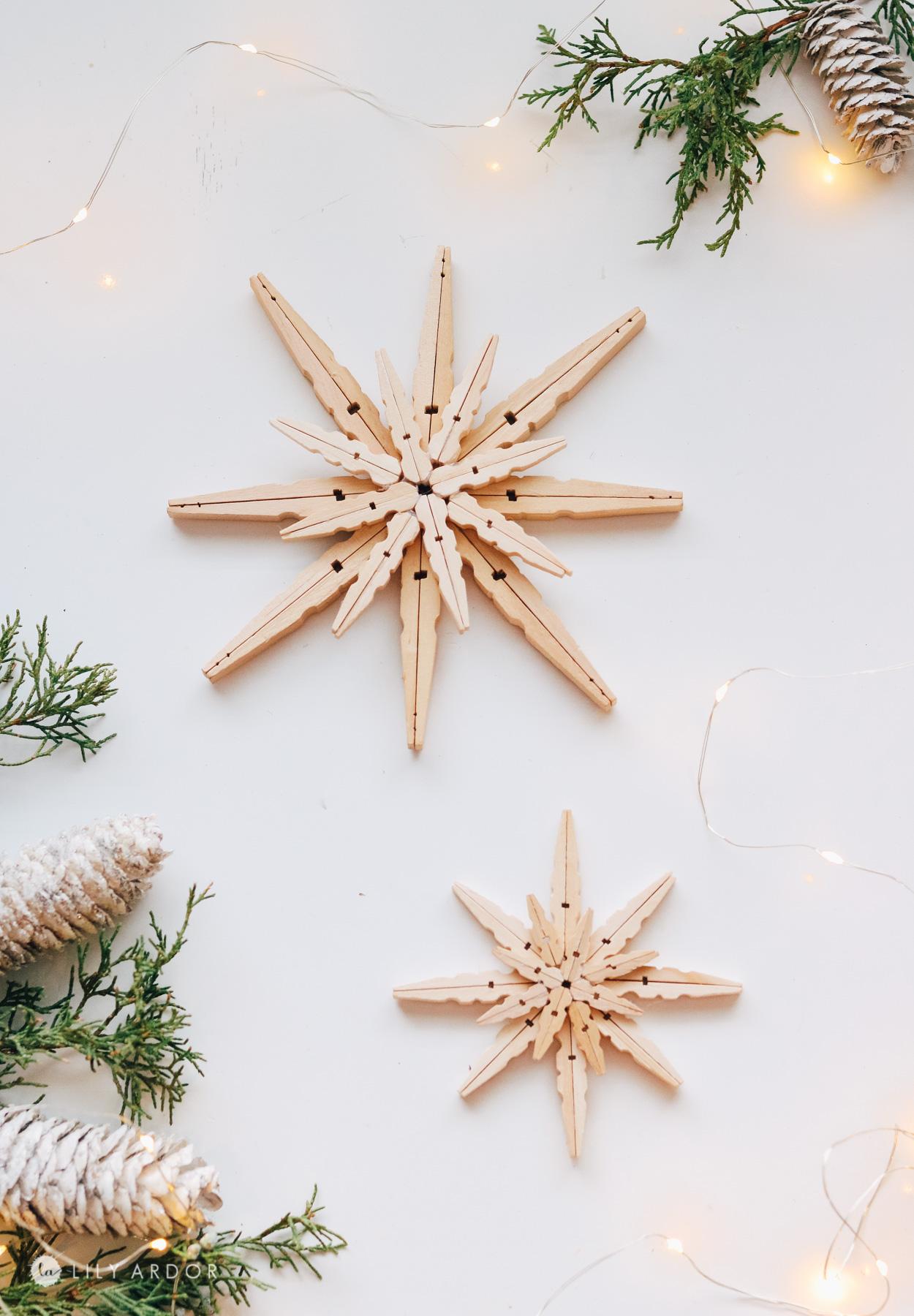 clothespin stars DIY