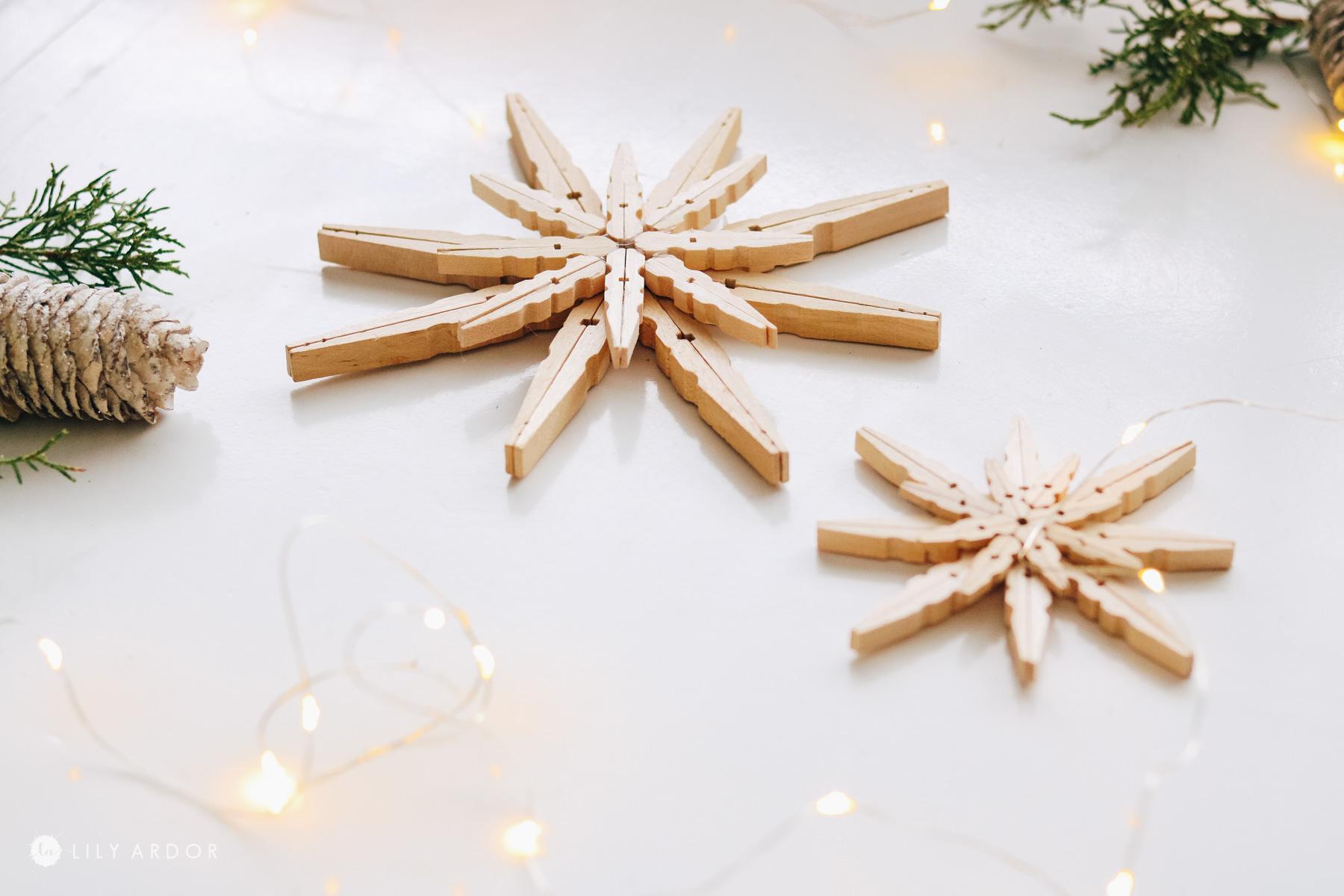 Clothespins stars diy