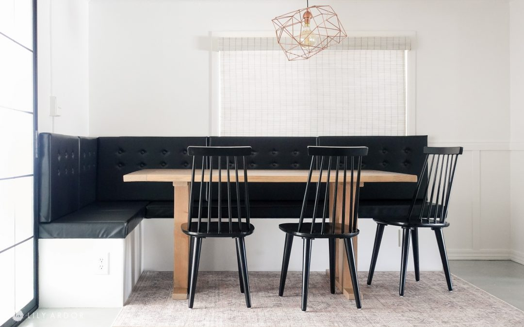 DIY Easy banquette seating