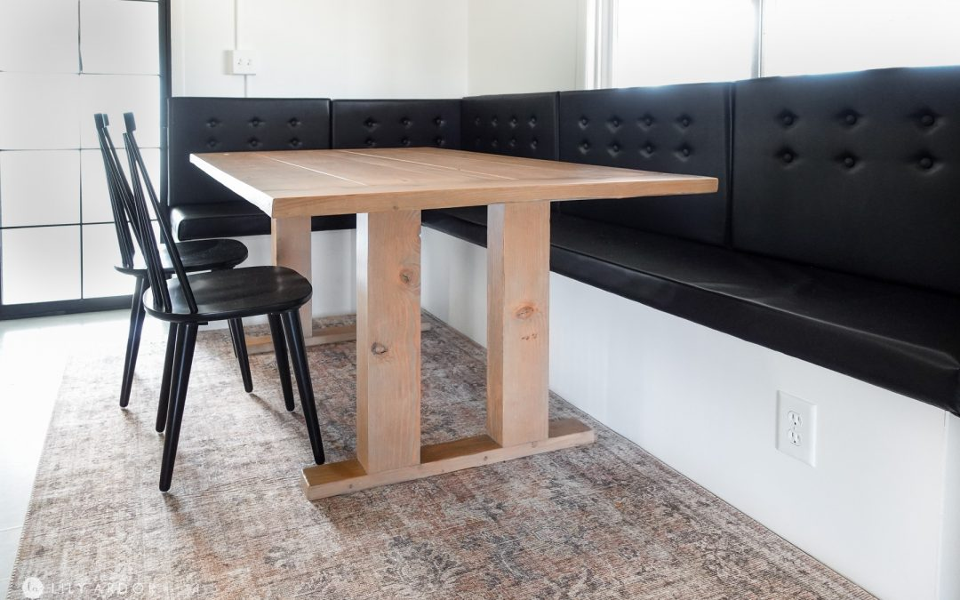 Easy Modern DIY Farmhouse Table